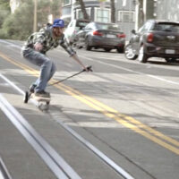 These Skateboarders Figured Out How to Ride Cobblestone Streets Via Tram Tracks